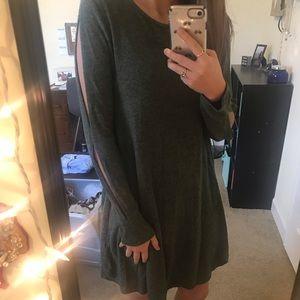 Francesca's Careen Brushed Hacci Knit Dress